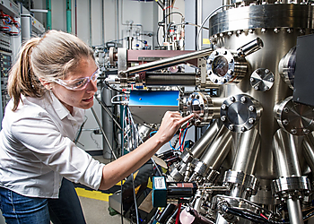 Dr. Kirstin Alberi  conducts basic research on the optical and electronic properties of semiconductor alloys for photovoltaic | © NREL
