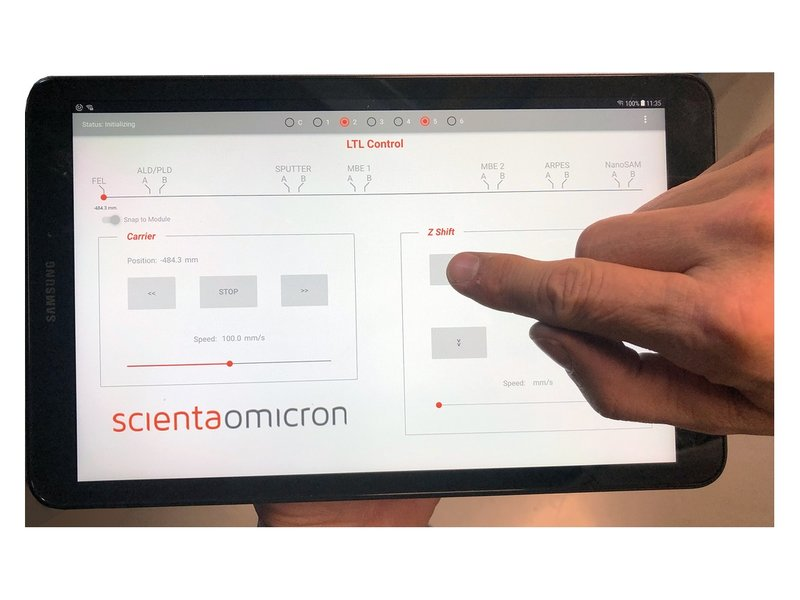 MISTRAL Control System Software Example | © Scienta Omicron