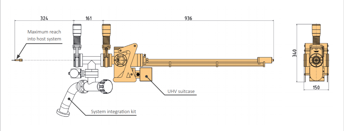 UHV Suitcase Technical Drawing | © Scienta Omicron